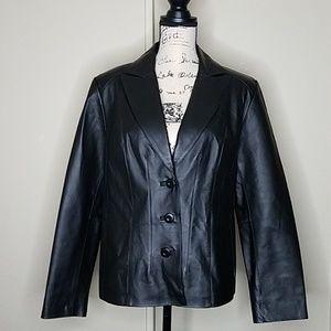 East 5th petite large genuine leather jacket